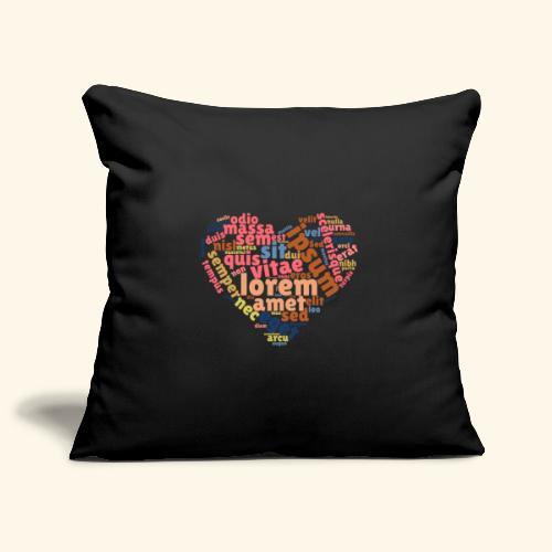 Lorem Ipsum Heart - Sofa pillowcase 17,3'' x 17,3'' (45 x 45 cm)