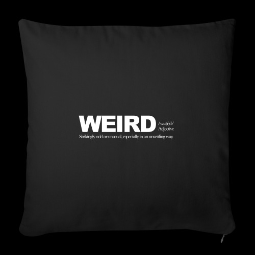 WIERD BW - Sofa pillowcase 17,3'' x 17,3'' (45 x 45 cm)