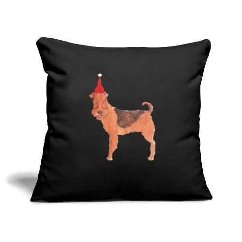 Airedale terrier Christmas - Pudebetræk 45 x 45 cm