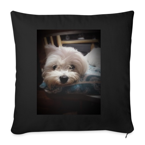 Pure White Pup - Sofa pillowcase 17,3'' x 17,3'' (45 x 45 cm)