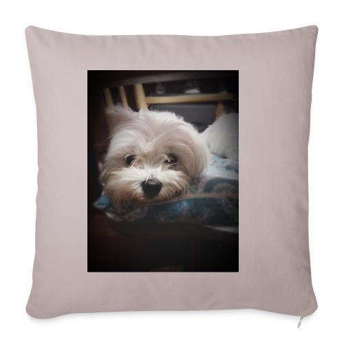 Pure White Pup - Sofa pillowcase 17,3'' x 17,3'' (45 x 45 cm)