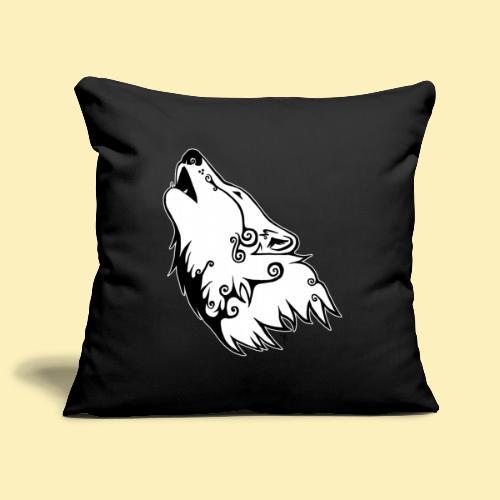 Le Loup de Neved (version contour blanc) - Housse de coussin décorative 45x 45cm