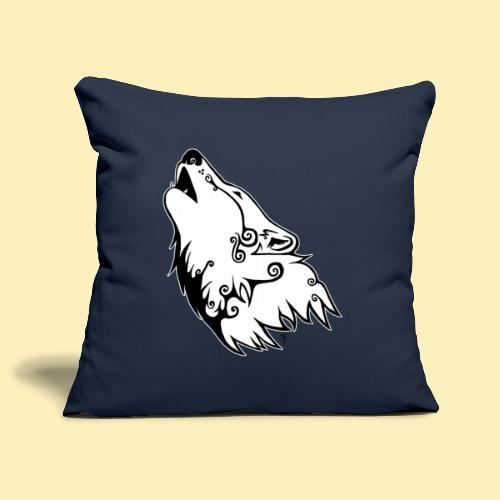 Le Loup de Neved (version contour blanc) - Housse de coussin décorative 45 x 45 cm