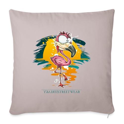 Flamingo Weirdo - Sofakissenbezug 44 x 44 cm