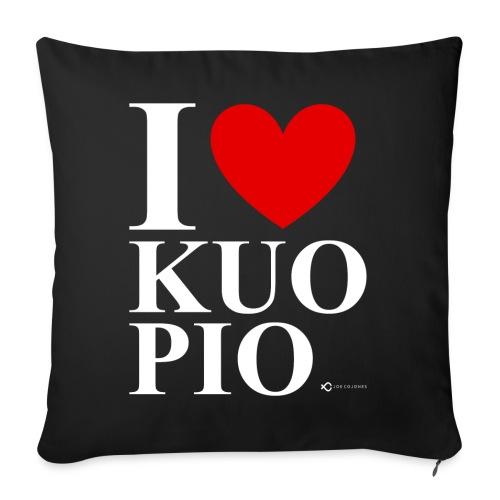 I LOVE KUOPIO ORIGINAL (valkoinen) - Sohvatyynyn päällinen 45 x 45 cm