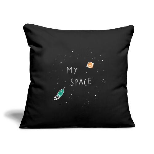 My Space, mein Platz   weiss   Einzug - Sofakissenbezug 44 x 44 cm