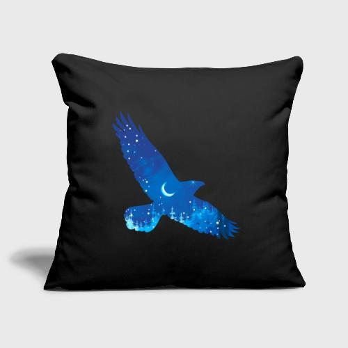 Oiseau Bleu d'hiver - Housse de coussin décorative 45x 45cm
