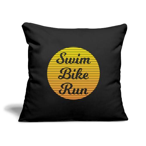 Swim Bike Run in the Sun - Sofakissenbezug 44 x 44 cm