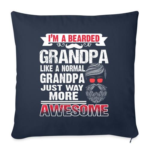 Awesome Bearded Grandpa - Sofakissenbezug 44 x 44 cm
