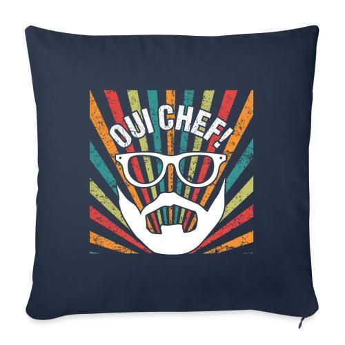 Oui Chef Bearded Chef Cuisine Restaurant - Sofakissenbezug 44 x 44 cm