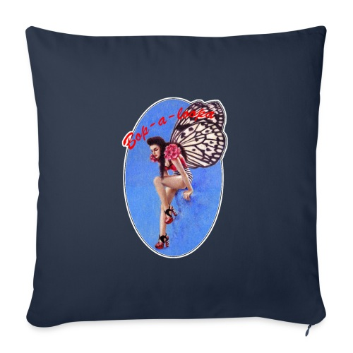 Vintage Rockabilly Butterfly Pin-up Design - Sofa pillowcase 17,3'' x 17,3'' (45 x 45 cm)