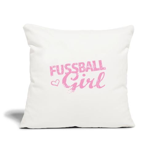 Fußball Girl - Sofakissenbezug 44 x 44 cm