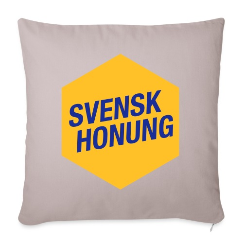 Svensk honung Hexagon Gul/Blå - Soffkuddsöverdrag, 45 x 45 cm