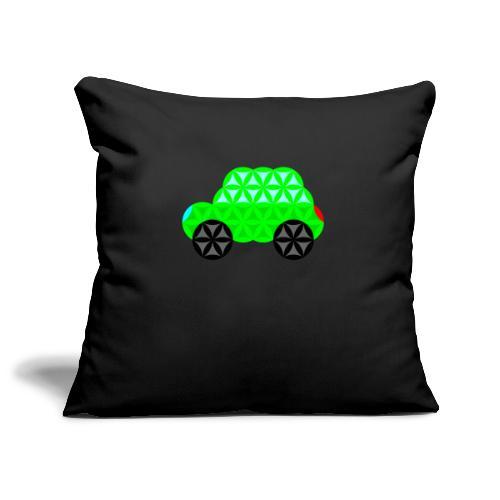 The Car Of Life - M01, Sacred Shapes, Green/R01. - Sofa pillowcase 17,3'' x 17,3'' (45 x 45 cm)