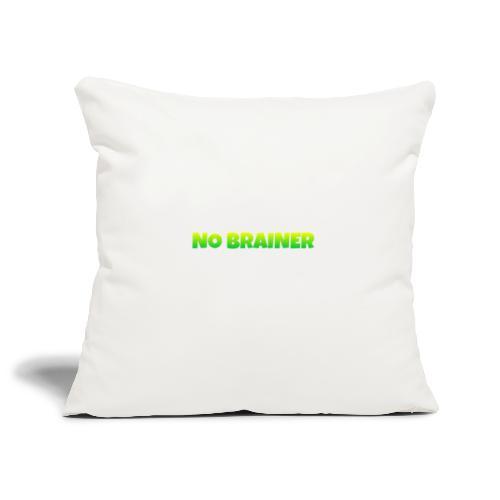 No Brainer - Funda de cojín, 45 x 45 cm