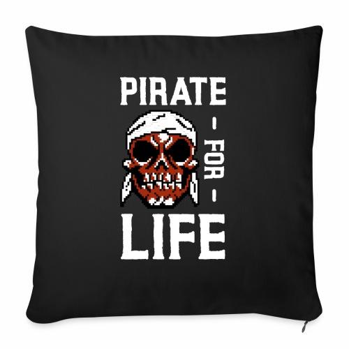 Cooler Böser Gamer Pixel Zombie Pirat for Life - Sofakissenbezug 44 x 44 cm