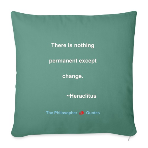 Heraclites Change Phiolosopher w - Sierkussenhoes, 45 x 45 cm