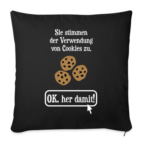 Cookie Hinweis Internet Nerd Spruch - Sofakissenbezug 44 x 44 cm