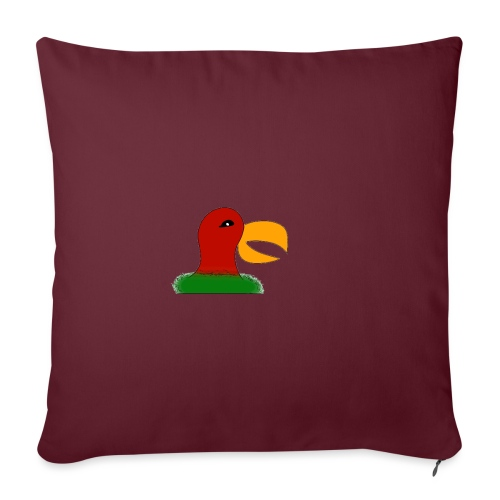 Parrots head - Sofa pillowcase 17,3'' x 17,3'' (45 x 45 cm)