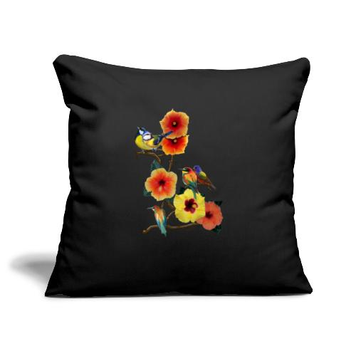 birds in flowers - Sofa pillowcase 17,3'' x 17,3'' (45 x 45 cm)