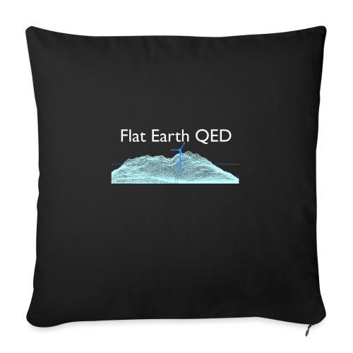 Flat Earth QED - Sofa pillowcase 17,3'' x 17,3'' (45 x 45 cm)