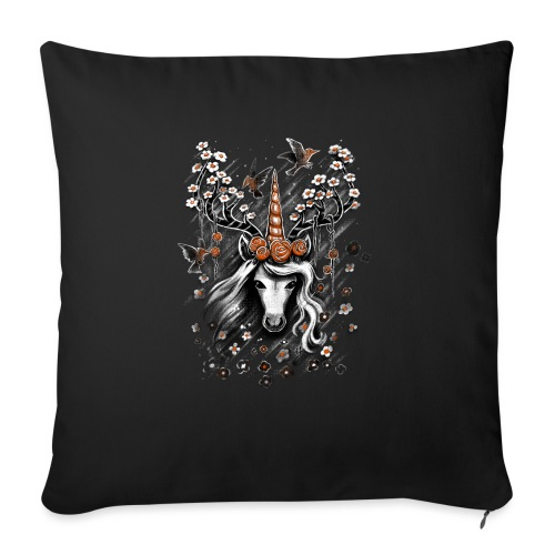 Deer Unicorn Flowers - Sofa pillowcase 17,3'' x 17,3'' (45 x 45 cm)