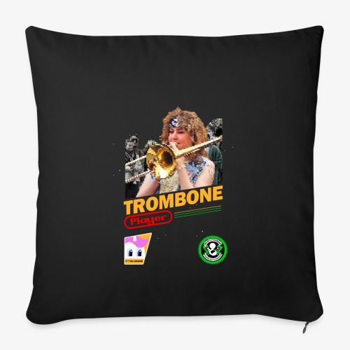 Trombone Playerendo - Housse de coussin décorative 45x 45cm