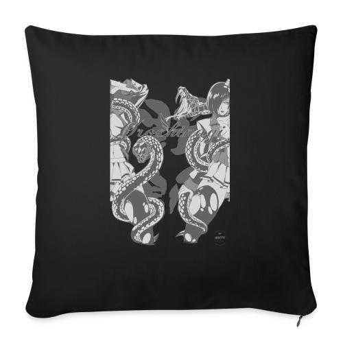 Bliss Yagami Grey - Housse de coussin décorative 45x 45cm