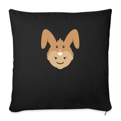 Kelly the Rabbit | Ibbleobble - Sofa pillowcase 17,3'' x 17,3'' (45 x 45 cm)