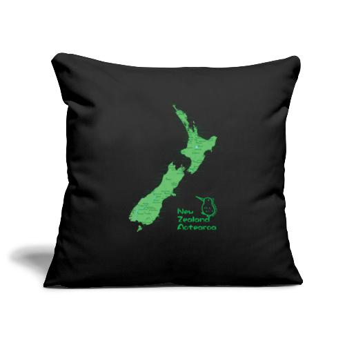 New Zealand's Map - Sofa pillowcase 17,3'' x 17,3'' (45 x 45 cm)