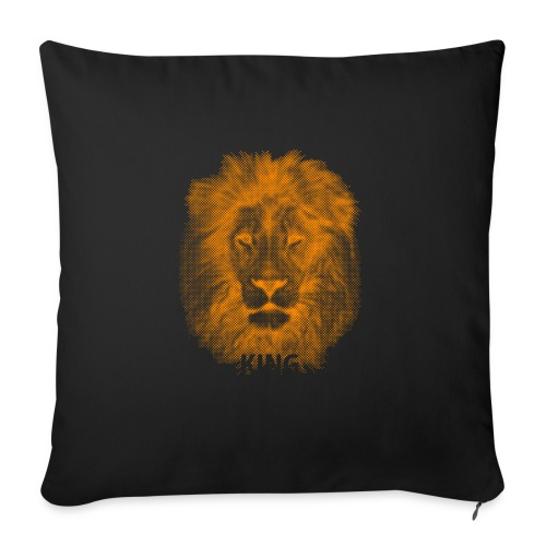 lionking (orange) - Sofa pillowcase 17,3'' x 17,3'' (45 x 45 cm)