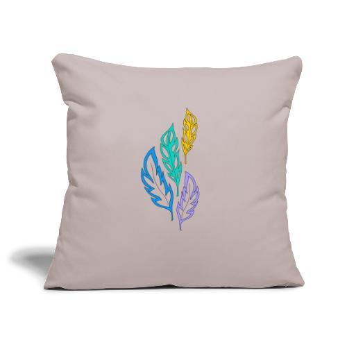 piume astratte multicolore - Copricuscino per divano, 45 x 45 cm