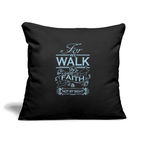 walk powder blue - Sofa pillowcase 17,3'' x 17,3'' (45 x 45 cm)