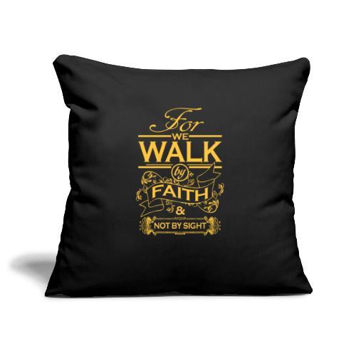 walk yellow - Sofa pillowcase 17,3'' x 17,3'' (45 x 45 cm)
