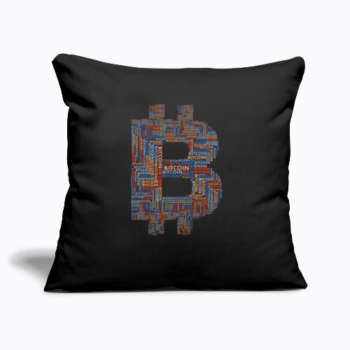 bitcoin - Sofa pillowcase 17,3'' x 17,3'' (45 x 45 cm)