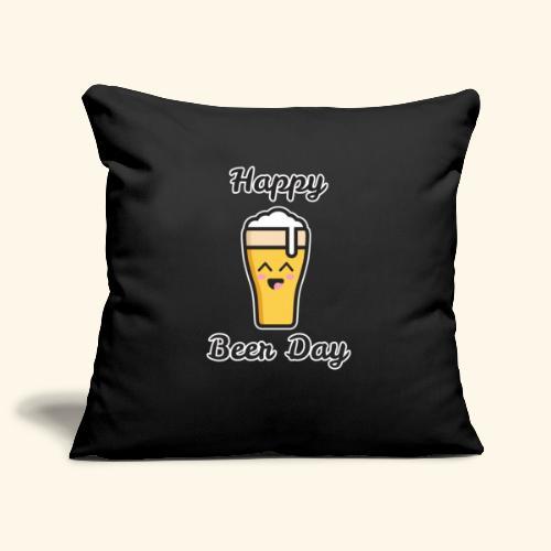 happy beer day - Housse de coussin décorative 45x 45cm