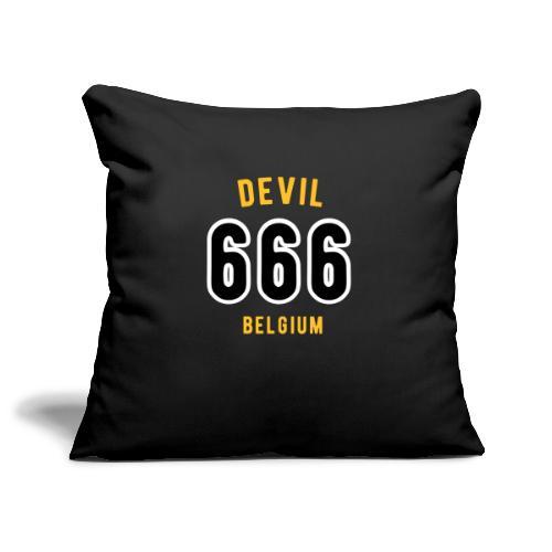 666 devil Belgium - Housse de coussin décorative 45x 45cm