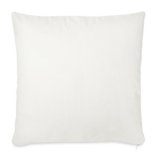 white logo transparent 2x - Sofa pillowcase 17,3'' x 17,3'' (45 x 45 cm)