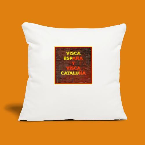 SPAIN AND CATALONIA - Sofa pillowcase 17,3'' x 17,3'' (45 x 45 cm)