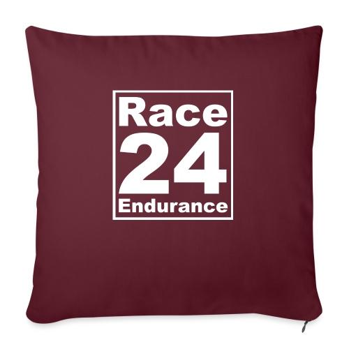 Race24 Logo - White - Sofa pillowcase 17,3'' x 17,3'' (45 x 45 cm)