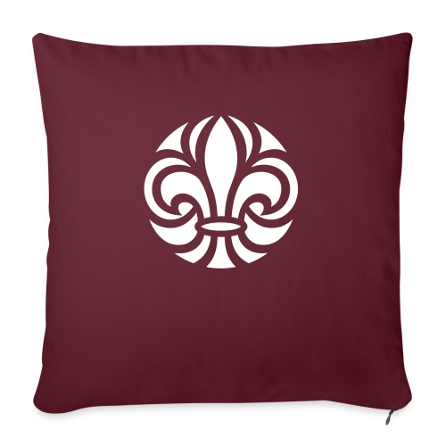 Scouterna-symbol_white - Soffkuddsöverdrag, 45 x 45 cm