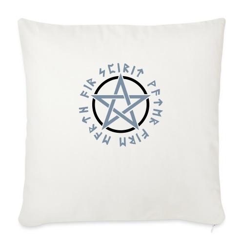 Pentagramm, Elemente, Runen, Magie, Symbol, Stern - Sofakissenbezug 44 x 44 cm