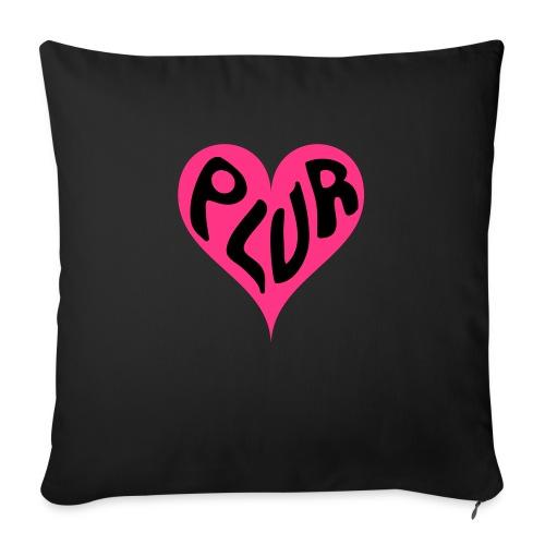 PLUR - Peace Love Unity and Respect love heart - Sofa pillowcase 17,3'' x 17,3'' (45 x 45 cm)