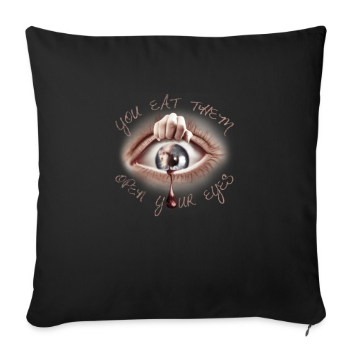Open your Eyes - Housse de coussin décorative 45x 45cm