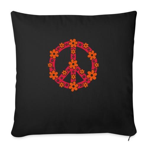 Peace Frieden Symbol Hippie Sommer Freiheit Liebe - Sofakissenbezug 44 x 44 cm
