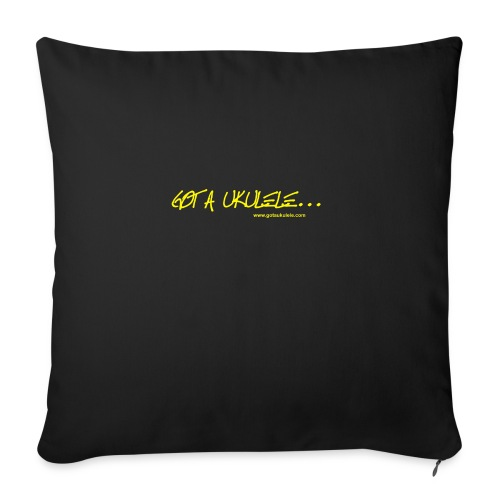 Official Got A Ukulele website t shirt design - Sofa pillowcase 17,3'' x 17,3'' (45 x 45 cm)