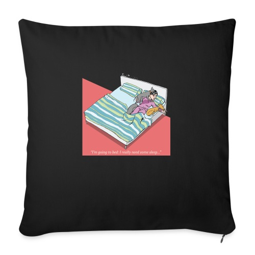 pajama party - Sofa pillowcase 17,3'' x 17,3'' (45 x 45 cm)