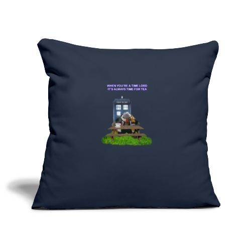TIME AND SPACE AND TEA - Sofa pillowcase 17,3'' x 17,3'' (45 x 45 cm)