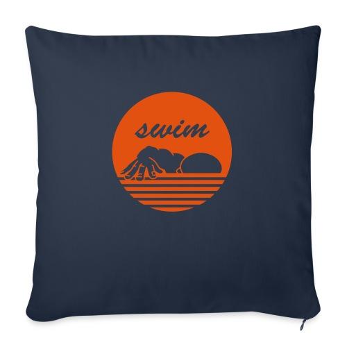 swim! Schwimmer Kraulen - Sofakissenbezug 44 x 44 cm