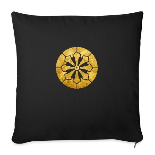 Sanja Matsuri Komagata mon gold - Sofa pillowcase 17,3'' x 17,3'' (45 x 45 cm)